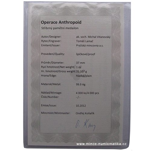 2012_Ag_medaile_Operace_Anthropoid_3_certifikat