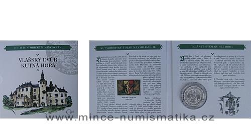 Kolekce hold historickým mincovnám - replika Kutnohorského tolaru Maxmiliána II.