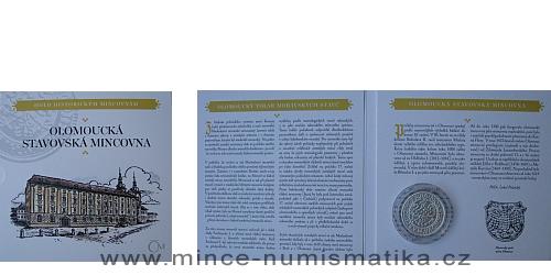 Kolekce hold historickým mincovnám - replika Olomouckého tolaru moravských stavů