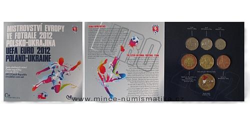 Sada oběžných mincí ČR 2012 - ME ve fotbale (Polsko, Ukrajina)