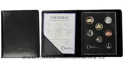 Sada oběžných mincí ČR 2012 - PROOF (luxusní kožený obal)