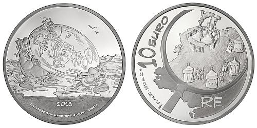 2013 - 10 € Francie - Asterix Comic Silver