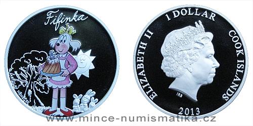 2013 - 1 $ Cook Islands - Čtyřlístek - Fifinka