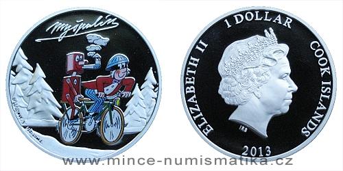 2013 - 1 $ Cook Islands - Čtyřlístek - Myšpulín