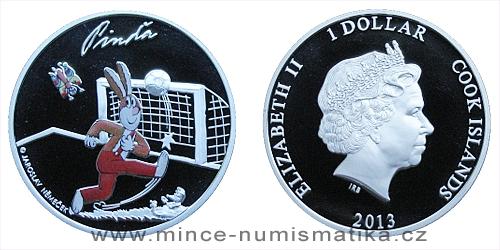 2013 - 1 $ Cook Islands - Čtyřlístek - Pinďa