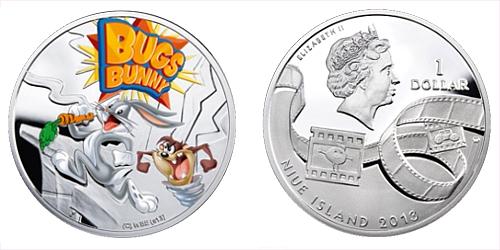 2013 - 1 $ Niue Island - Bugs Bunny Ag