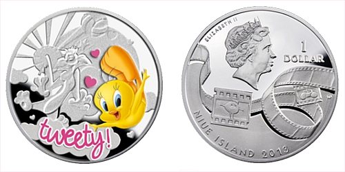 2013 - 1 $ Niue Island - Tweety Ag