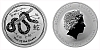 2013 - 1 dollar - Year of the Snake Ag (Australia Lunar II.)
