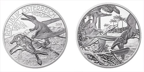2013 - 20 € Rakousko - Pravěký život - Jura