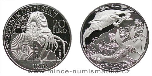2013 - 20 € Rakousko - Pravěký život - Trias
