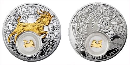 2013 - 20 BYR Bělorusko - Zodiac pozlacený - Kozoroh/Capricornus