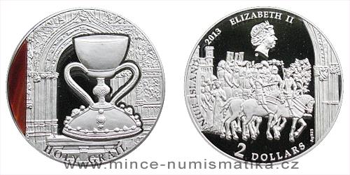 2013 - 2 $ Niue Island - Holy Grail Ag (Svatý grál)