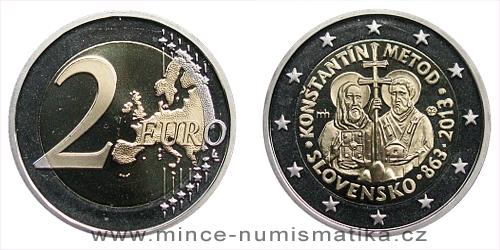 2 € - 1150. výročí příchodu Konstantina a Metoděje Proof