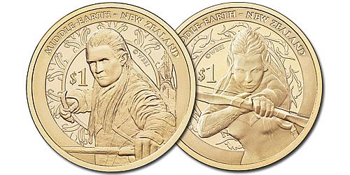 2013 - 2x 1 $ Nový Zéland - The Hobbit - Šmakova dračí poušť