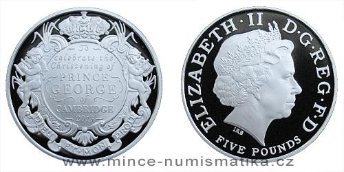 2013 - 5 £ Velká Británie - The Royal Christening 2013 (stříbro)