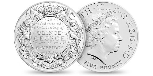2013 - 5 £ Velká Británie - The Royal Christening 2013 (CuNi)