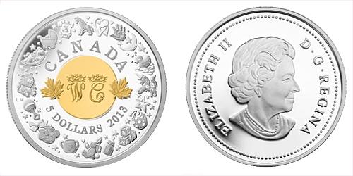 2013 - 5 $ Kanada - Royal Infant with Toys (královské nemluvně) Ag