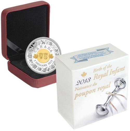 2013_5_dollars_Kanada_Royal_Infant_Ag_etue