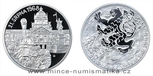 Stříbrná medaile Vpád vojsk Varšavské smlouvy 1968