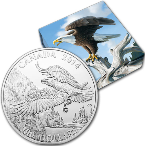 2014_100_dollars_Canada_Bald_Eagle_Ag_2_obal