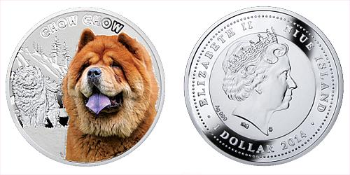 2014 - 1 $ Niue - Chow Chow / Čau Čau