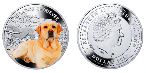 2014 - 1 $ Niue - Labrador Retriever