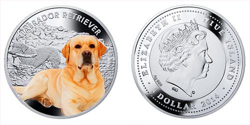 2014 - 1 $ Niue - Labrador Retriever