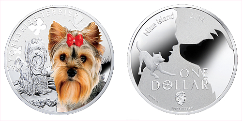 2014 - 1 $ Niue - Yorkshire Terrier