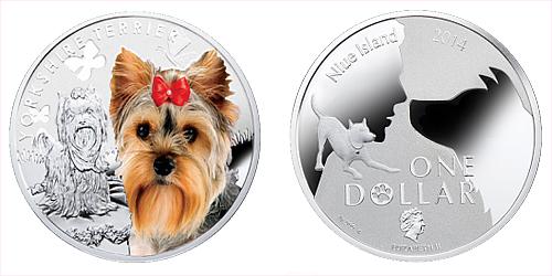 2014 - 1 $ Niue - Yorkshire Terrier