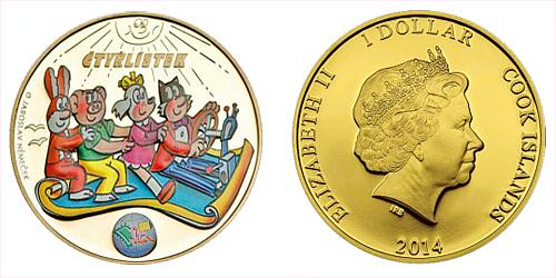 2014_1_dollar_Ctyrlistek_Sberatel_Au_plated_pp