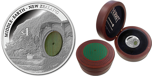 2014 - 1 $ Nový Zéland - The Hobbit - Dno pytle (Bag end) Ag
