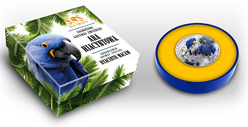 2014_1_dollar_Niue_Ara_Hyacintovy_Ag_2_etue