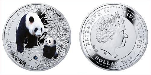 2014 - 1 $ Niue - Panda Velká (Giant Panda)