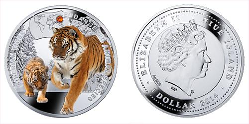 2014 - 1 $ Niue - Tygr Sibiřský (Siberian Tiger)