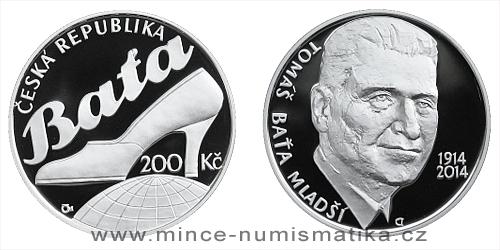200 Kč - 100. výročí narození - Tomáš Baťa ml.