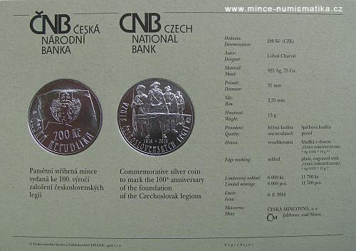 2014_200_Kc_Ceskoslovenske_legie_certifikat