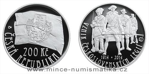 200 Kč - 100. výročí založení československých legií