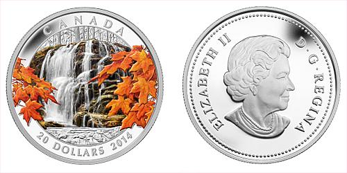 2014 - 20 $ Kanada - Autumn Falls Ag