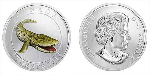 2014 - 25 centů Kanada - Prehistoric Creature - Tiktaalik