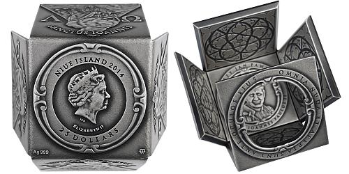 2014 - 25 $ Niue - Svatý Jan Pavel II.