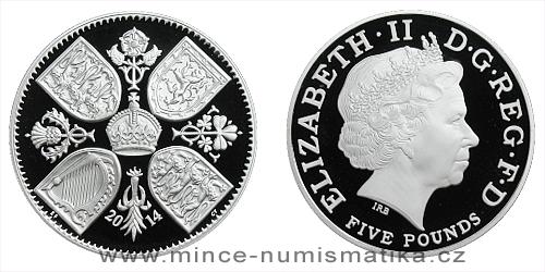 2014 - 5 £ Velká Británie - První narozeniny Prince George