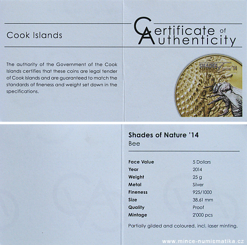 2014_5_dollars_Cook_Islands_shades_of_nature_Ag_cert