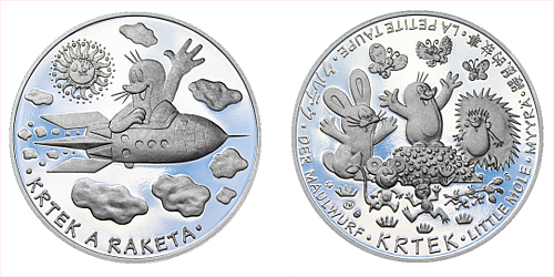 Stříbrná medaile Krteček a raketa