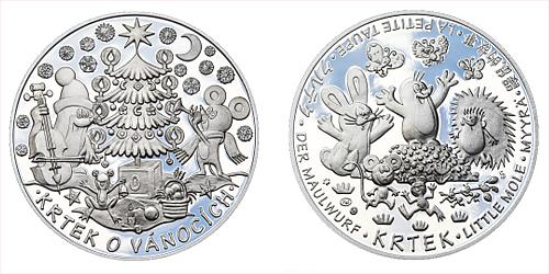 Stříbrná medaile Krteček o Vánocích