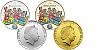 2014 - 2x 1 $ Cook Islands - sada dvou mincí Čtyřlístek s logem veletrhu Sběratel