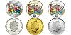 2014 - 5 $ a 2x 1 $ Cook Islands - sada tří mincí Čtyřlístek s logem veletrhu Sběratel