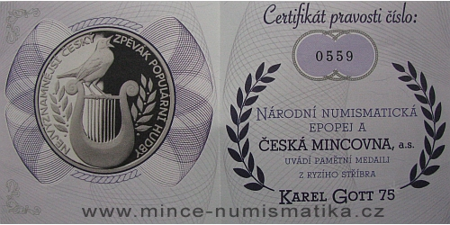 2014_medaile_Ag_Karel_Gott_3_certifikat_revers