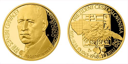 Zlatý dukát Českoslovenští prezidenti - Edvard Beneš