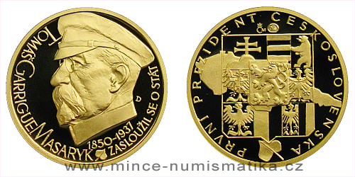 Zlatý dukát Českoslovenští prezidenti - T. G. Masaryk
