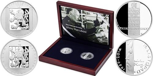 Sada - stříbrná medaile a 200 Kč mince 25. výročí 17. listopad 1989
